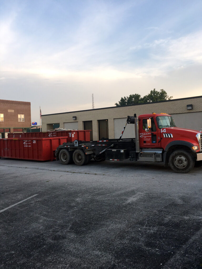 Truck and Dumpsters