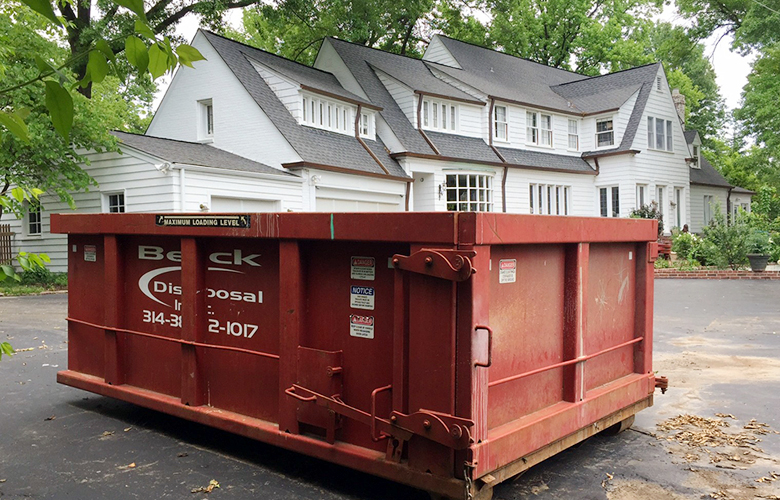 Remodeled House and Dumpster