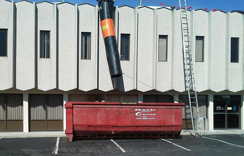 Commercial Roofing Debris